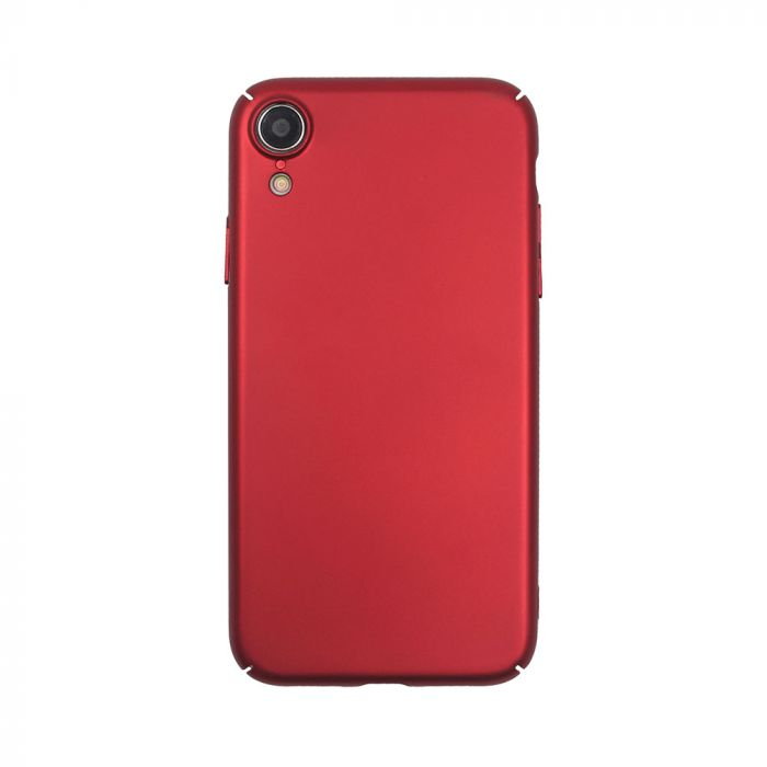 Carcasa iPhone XR Just Must Uvo Red (material fin la atingere, slim fit)