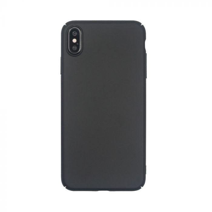 Carcasa iPhone XS Max Just Must Uvo Black (material fin la atingere, slim fit)