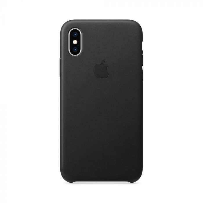 Carcasa iPhone XS Apple Leather Black (piele naturala)