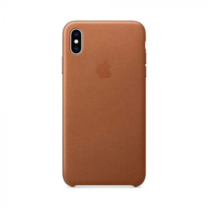Carcasa iPhone XS Max Apple Leather Saddle Brown (piele naturala)