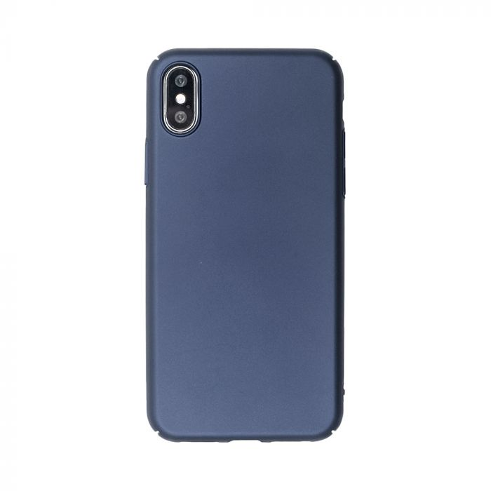 Carcasa iPhone XS / X Just Must Uvo Navy (material fin la atingere, slim fit)