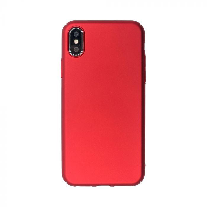Carcasa iPhone XS / X Just Must Uvo Red (material fin la atingere, slim fit)