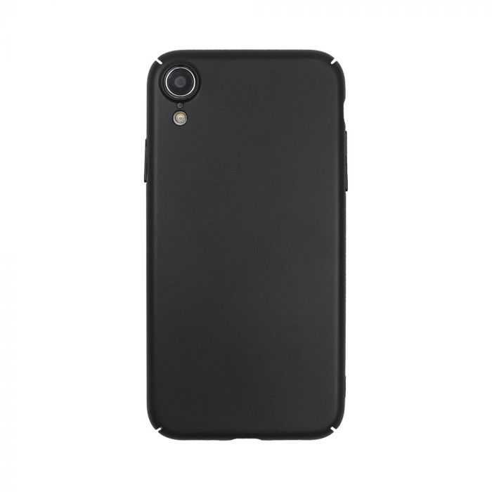 Carcasa iPhone XR Just Must Uvo Black (material fin la atingere, slim fit)