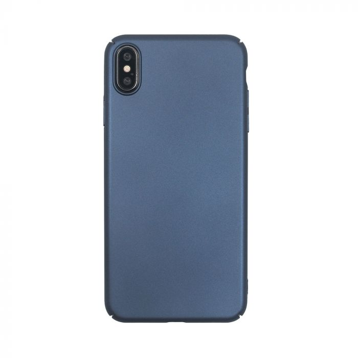 Carcasa iPhone XS Max Just Must Uvo Navy (material fin la atingere, slim fit)