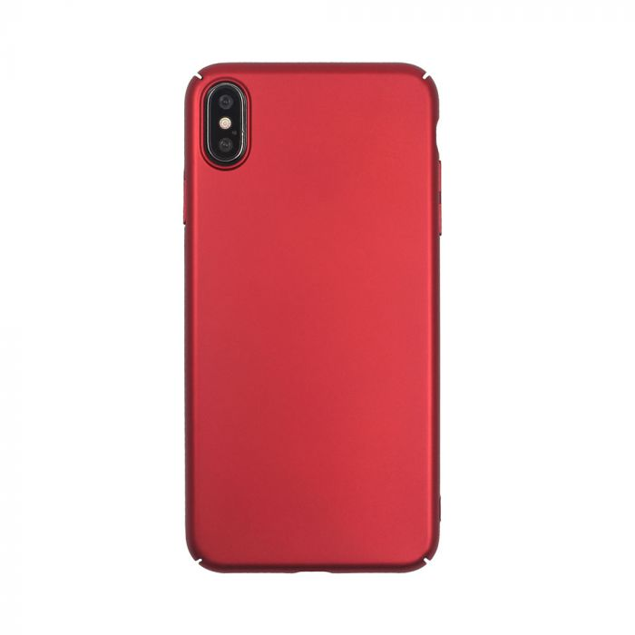 Carcasa iPhone XS Max Just Must Uvo Red (material fin la atingere, slim fit)