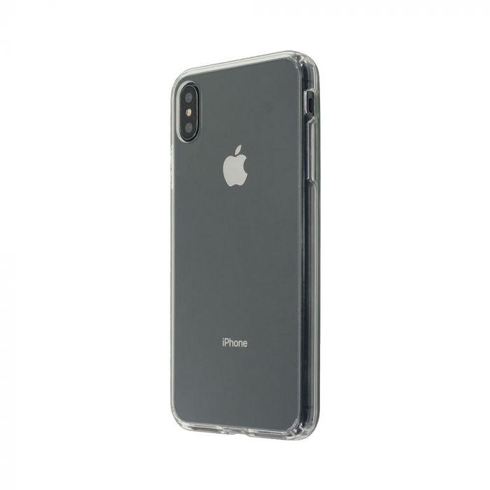 Carcasa iPhone XS / X Just Must Pure II Clear (spate transparent, margini flexibile)