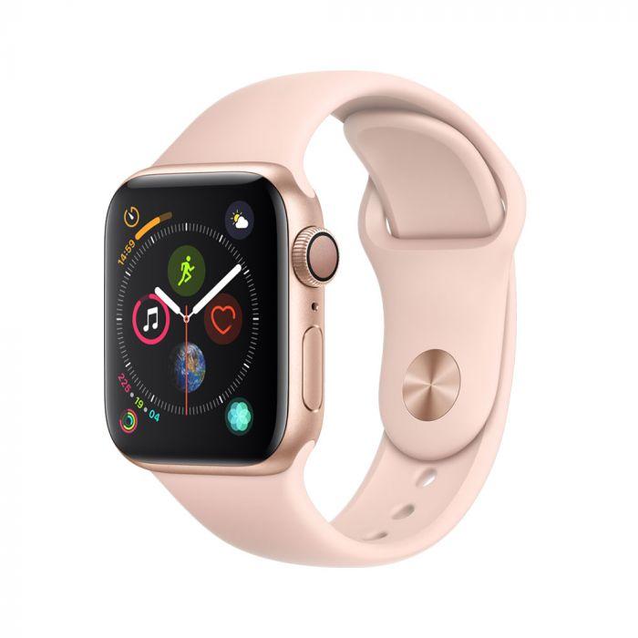 Apple Watch 4 GPS Gold Aluminium Case 40mm cu Pink Sand Sport Band