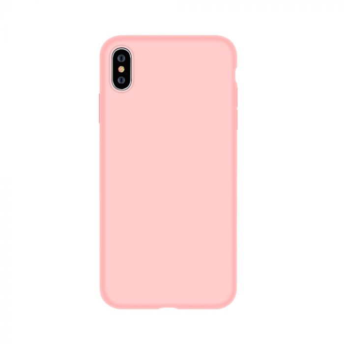 Husa iPhone XS / X Devia Silicon Nature Series Pink