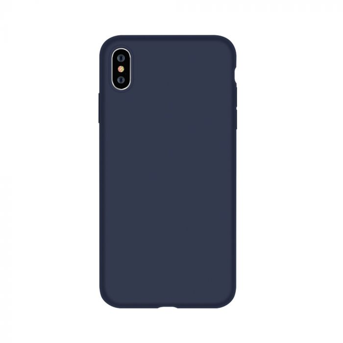 Husa iPhone XS / X Devia Silicon Nature Series Blue