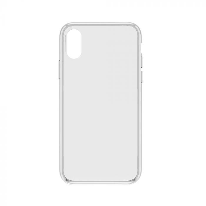 Carcasa iPhone XS Max Devia Elegant Antishock Clear (spate dur transparent, margini antishock slim)