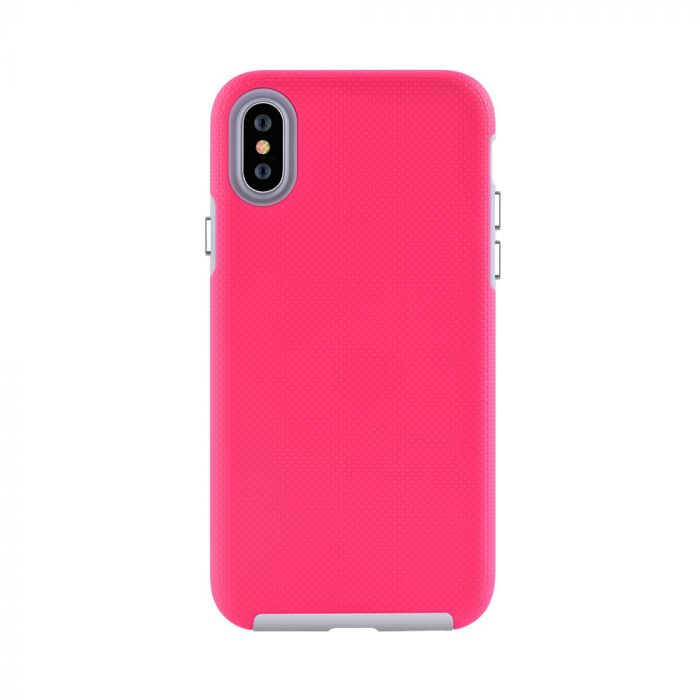 Carcasa iPhone XS / X Devia KimKong Rose Red (antishock, din doua bucati)
