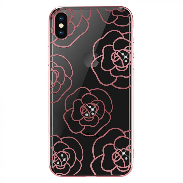 Carcasa iPhone XS / X Devia Camellia Rose Gold