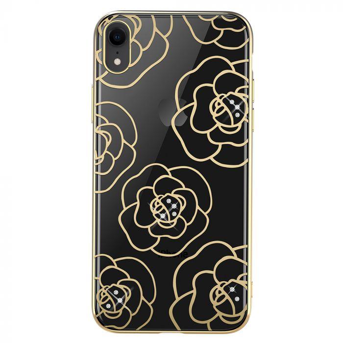 Carcasa iPhone XR Devia Camellia Gold