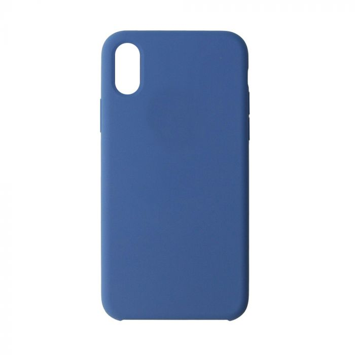 Carcasa iPhone XS / X Just Must Liquid Silicone Ocean Blue