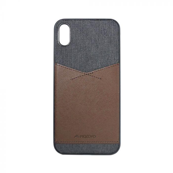 Carcasa iPhone XS Max Meleovo Chic II Dark Brown - Black