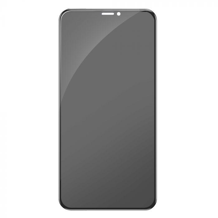 Folie iPhone XS / X Devia Sticla 3D Full Screen Privacy Black (9H)