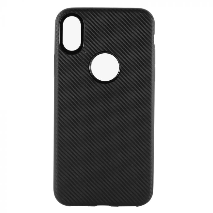 Husa iPhone XS / X Just Must Silicon Carbon Soft Black