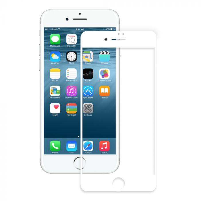 Folie iPhone 8 plus / 7 plus / 6s plus Eiger Sticla 3D Edge to Edge Clear White