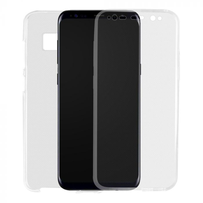Husa Samsung Galaxy S8 G950 Lemontti Silicon Full Cover 360 Transparent
