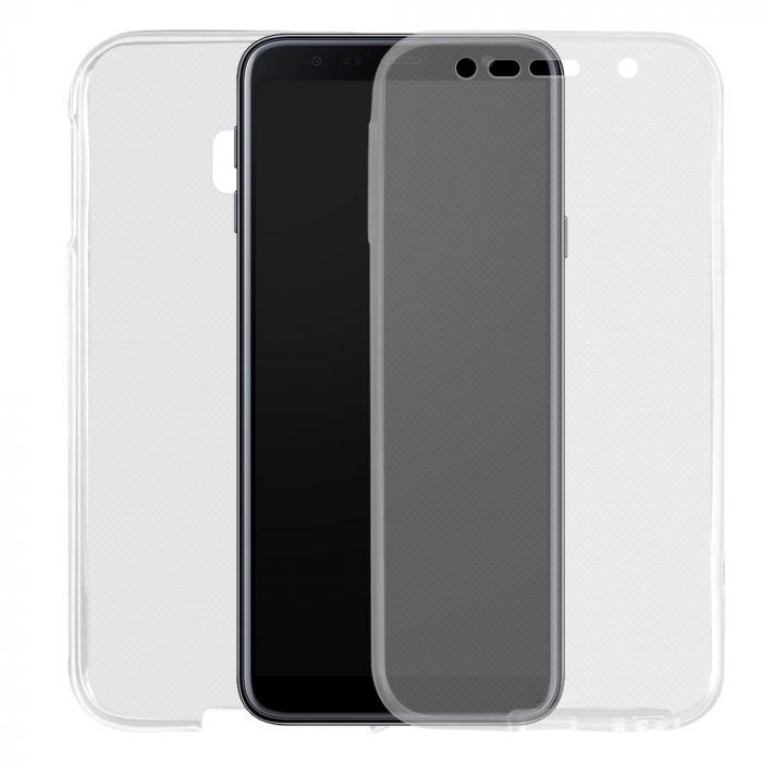 Husa Samsung Galaxy J4 Plus Lemontti Silicon Full Cover 360 Transparent