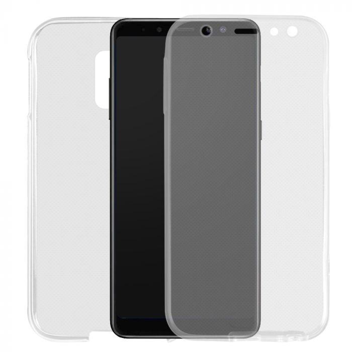 Husa Samsung Galaxy A6 (2018) Lemontti Silicon Full Cover 360 Transparent