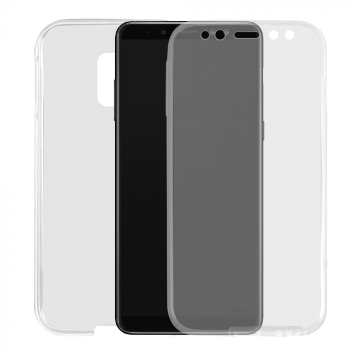 Husa Samsung Galaxy A8 (2018) Lemontti Silicon Full Cover 360 Transparent