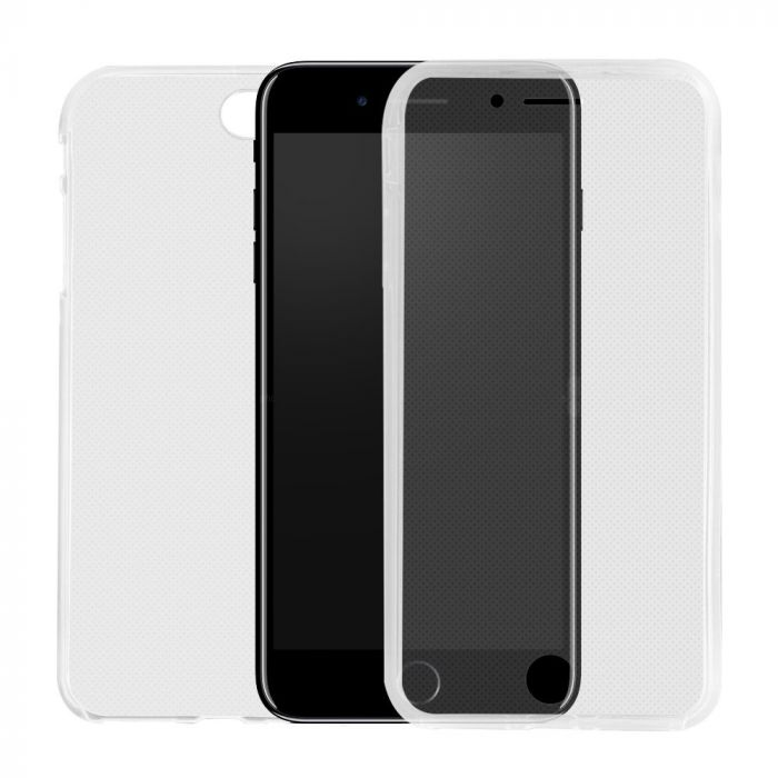 Husa iPhone 8 Plus / 7 Plus Lemontti Silicon Full Cover 360 Transparent