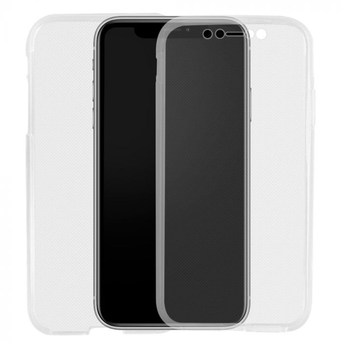 Husa iPhone XR Lemontti Silicon Full Cover 360 Transparent