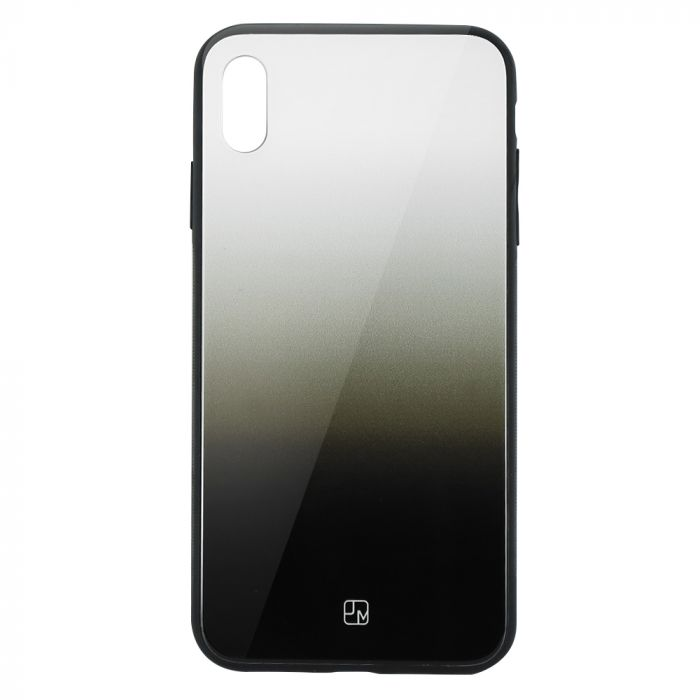 Carcasa Sticla iPhone XS Just Must Glass Gradient White-Black