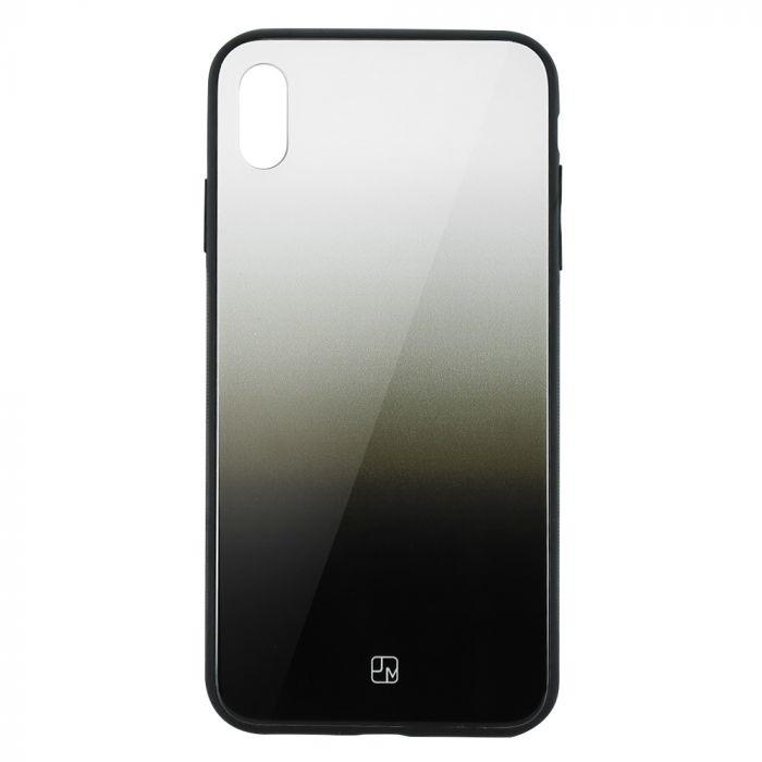 Carcasa Sticla iPhone XS Max Just Must Glass Gradient White-Black