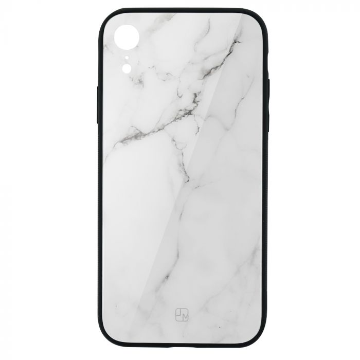 Carcasa Sticla iPhone XR Just Must Glass Print White Marble