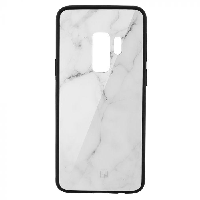 Carcasa Sticla Samsung Galaxy S9 Plus G965 Just Must Glass Print White Marble