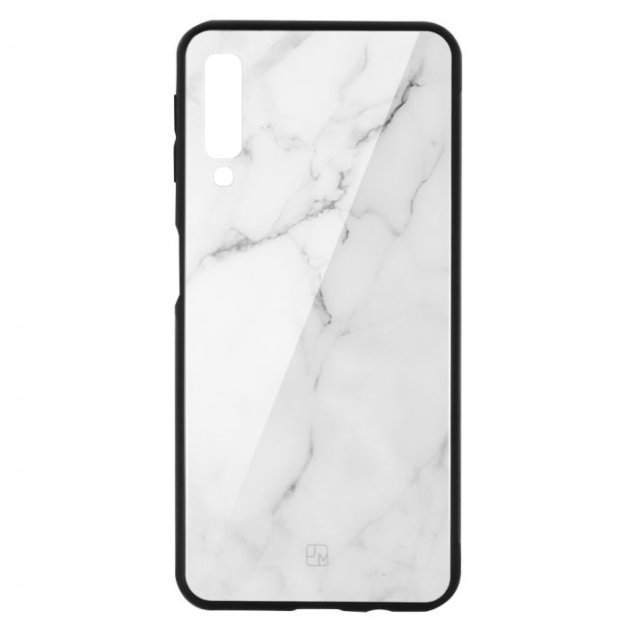 Carcasa Sticla Samsung Galaxy A7 (2018) Just Must Glass Print White Marble