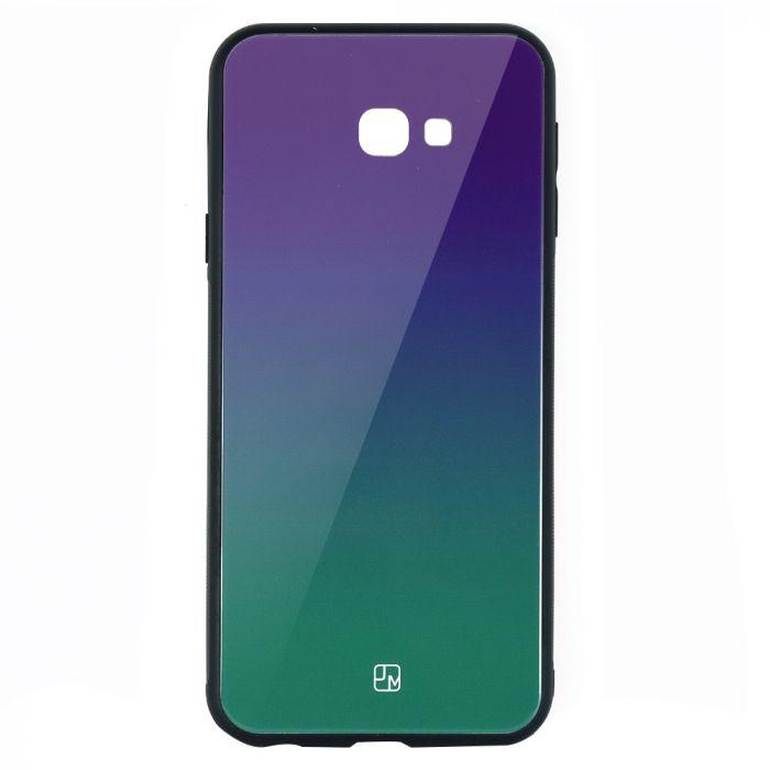 Carcasa Sticla Samsung Galaxy J4 Plus Just Must Glass Gradient Purple-Green