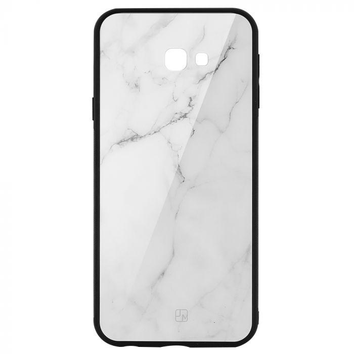 Carcasa Sticla Samsung Galaxy J4 Plus Just Must Glass Print White Marble