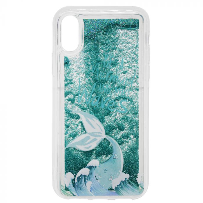 Carcasa iPhone XS / X Lemontti Liquid Sand Be A Mermaid And Make Waves