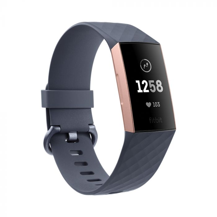 Fitbit Bratara Fitness Charge 3 Rose Gold / Blue Gray