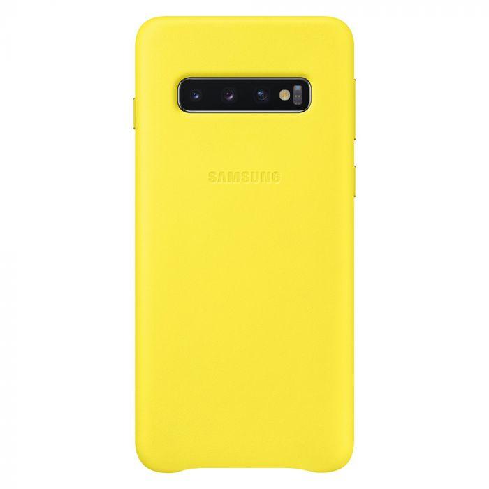 Carcasa Samsung Galaxy S10 G973 Samsung Leather Cover Yellow