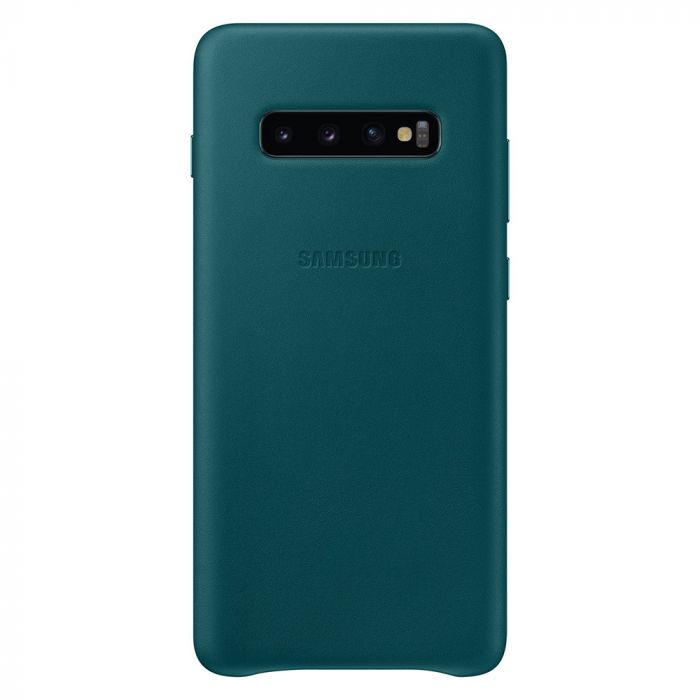 Carcasa Samsung Galaxy S10 Plus G975 Samsung Leather Cover Green