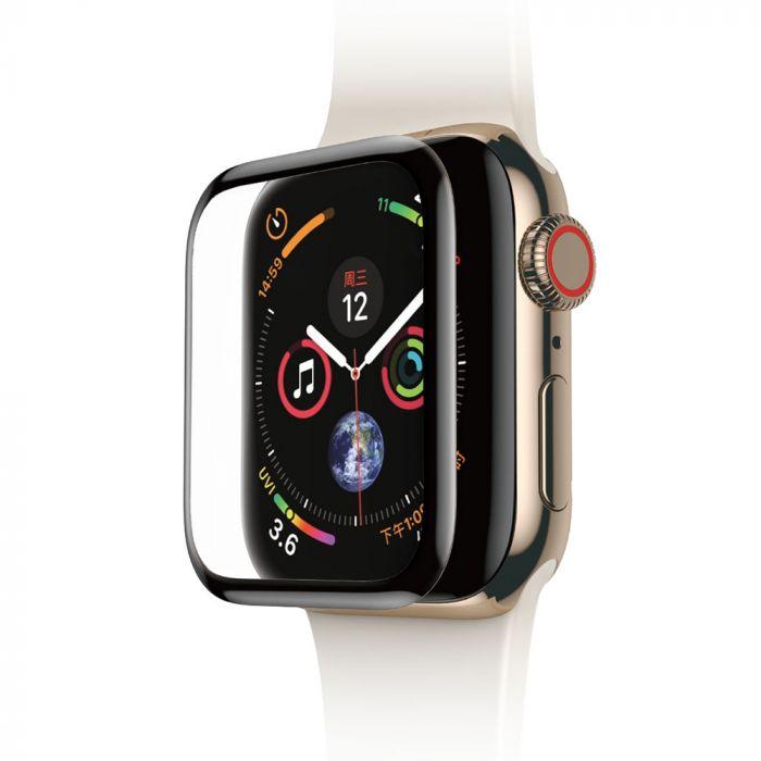 Folie Apple Watch 4 40mm Baseus Sticla Curbata Full Screen Black