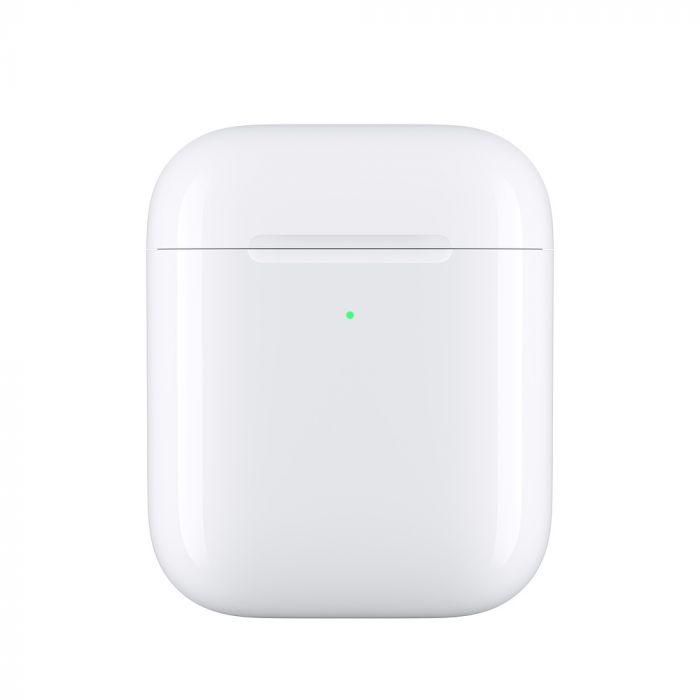 Carcasa Apple Wireless Charging Case pentru AirPods Generatia 1 si 2 White