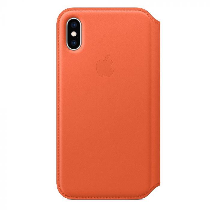 Husa iPhone XS Apple Leather Folio Sunset