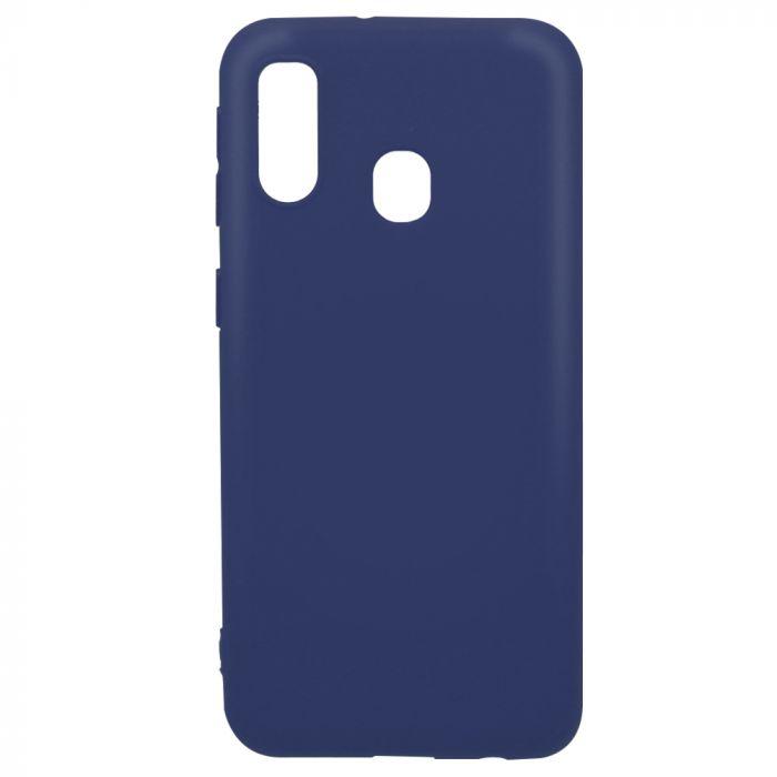 Husa Samsung Galaxy A40 Lemontti Silicon Silky Albastru Inchis