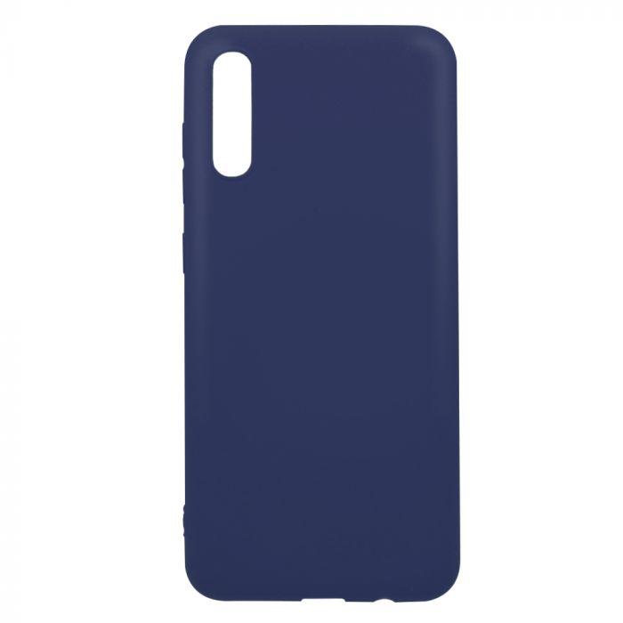 Husa Samsung Galaxy A70 Lemontti Silicon Silky Albastru Inchis