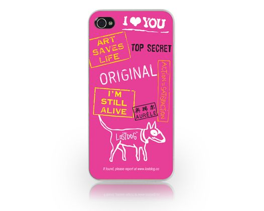 Carcasa iPhone 4/4S Lost Dog Slim Hard Top Secret Pink