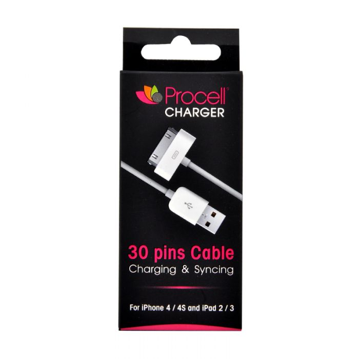 Cablu iPhone 4/4S Procell USB Alb