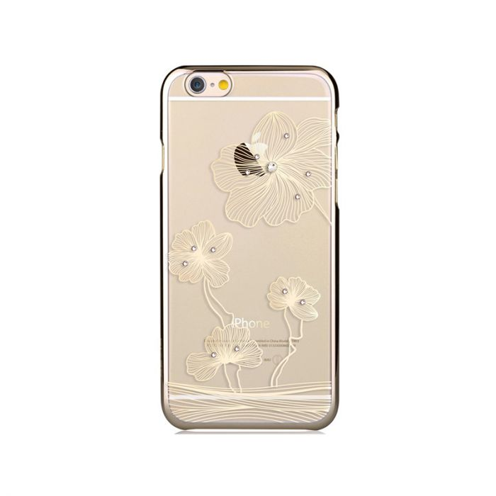 Carcasa iPhone 6/6S Comma Crystal Flora Champagne Gold (Cristale Swarovski�, electroplacat)