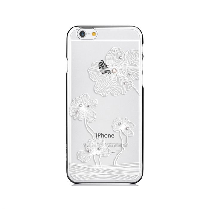 Carcasa iPhone 6/6S Comma Crystal Flora Silver (Cristale Swarovski�, electroplacat)