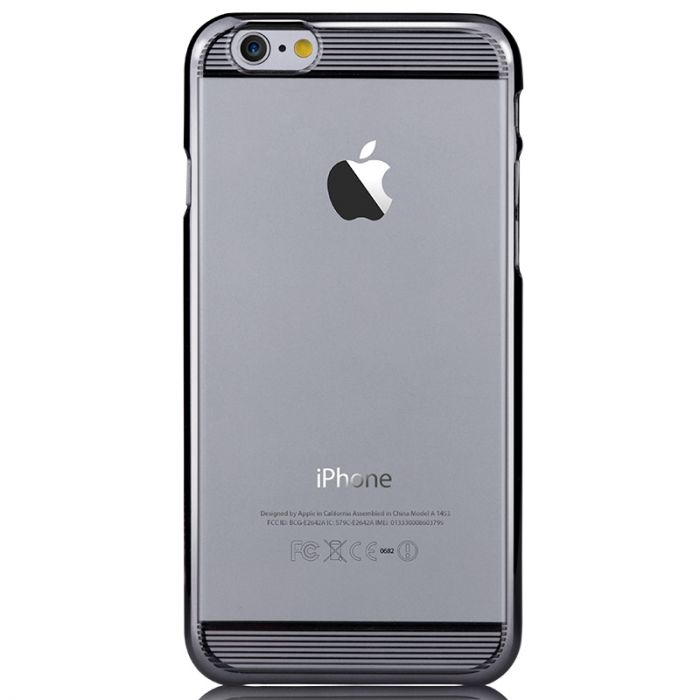Carcasa iPhone 6/6S Comma Brightness Gun Black (rama electroplacata)