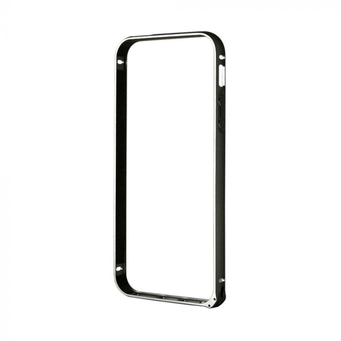 Bumper iPhone SE/5S Devia Buckle Black (aluminiu)